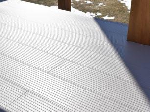 alumni-fence deck, deck, aluminum deck