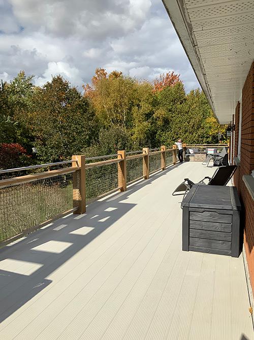 aluminum deck, maintenance free deck, permanent deck, stain free deck, composite deck