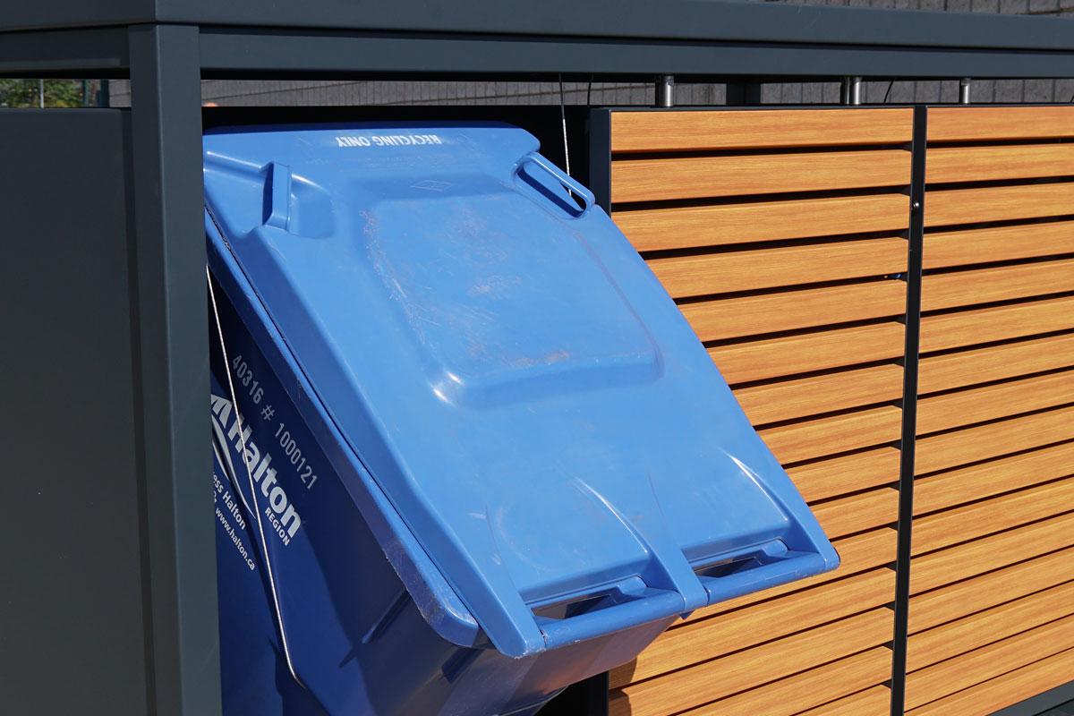 storage recycling bins, garbage storage, waste container storage, waste bin