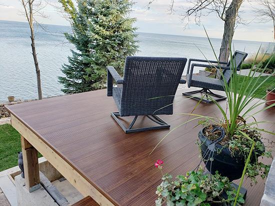 modular deck, modular deck on blocks, portable deck. rapid installation deck